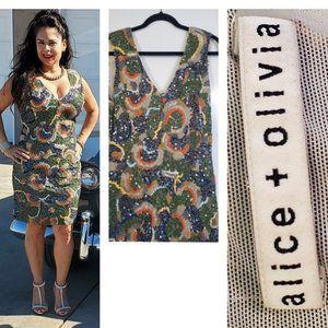 Alice + Oliva Alaina Embellished Mesh Mini…